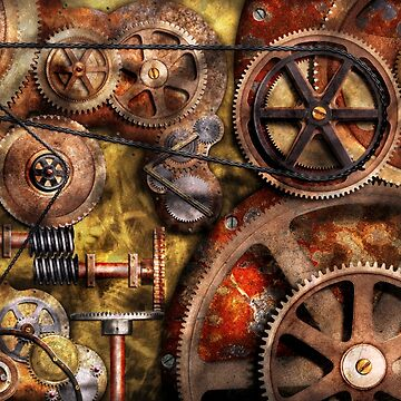Steampunk - Gears - Inner Workings by mikesavad
