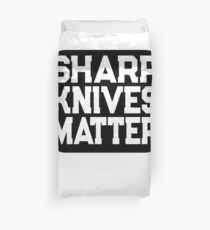 Culinary Sharp Knives Matter Fun Cooking Chef Duvet Cover