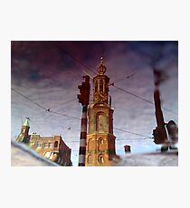 Reflections Of Amsterdam - The Munt Photographic Print