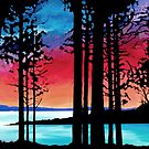 SECHELT SUNSET CARD by Alison Newth