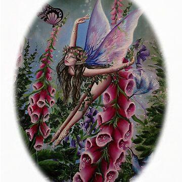 Foxglove fairy faerie fantasy elf pixie butterfly by gabo2828
