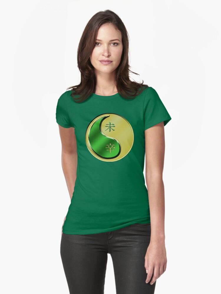Goat Yin Metal Womens T-Shirt Front