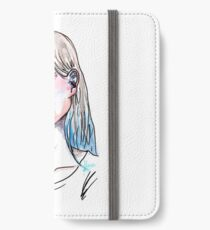Blue face iPhone Wallet/Case/Skin