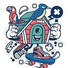 Bird House Skateboard Cartoon by wearitout