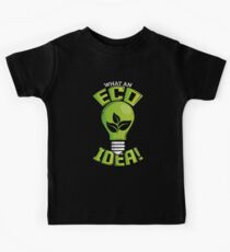 What An Eco Idea Funny Earth Day Kids Tee