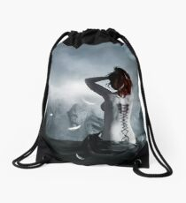 the corset of a angel Drawstring Bag