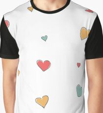 Hand Drawn Hearts Graphic T-Shirt