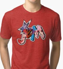 Jem and the Holograms - Logo - Group Color Tri-blend T-Shirt