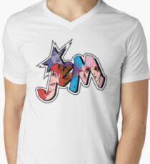 Jem and the Holograms - Logo - Group Color Men's V-Neck T-Shirt