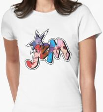 Jem and the Holograms - Logo - Group Color Women's Fitted T-Shirt