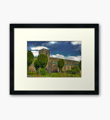 Dent Church - Dentdale. Framed Print