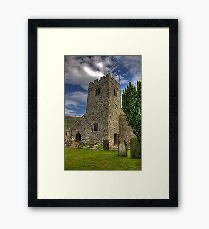 Dent Church Tower - Dent Framed Print