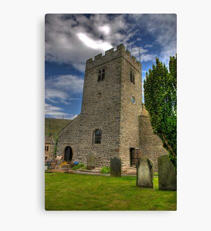 Dent Church Tower - Dent Canvas Print