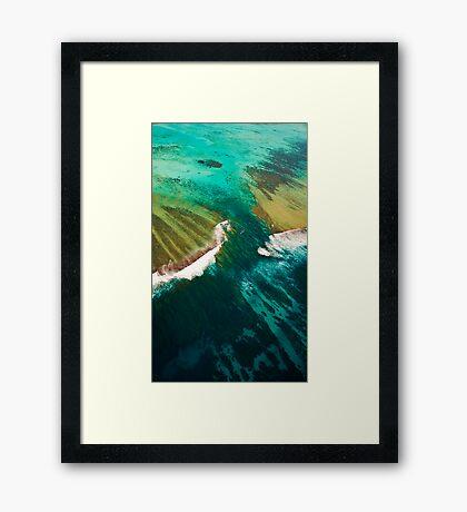 Turquoise Canyon - Ningaloo Reef Framed Print