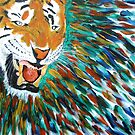 Snarling Angry Tiger  by George Hunter