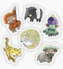Wee Animals Sticker Set 8 - South East Asia Transparent Sticker