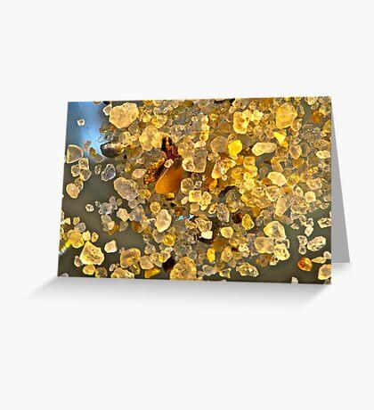 Sand Crystals Greeting Card