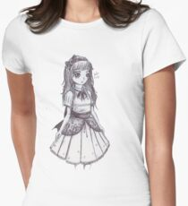 Pen Sketch Doll Women's Fitted T-Shirt