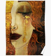 Goldene Tränen ... Jugendstil Kunst von Klimt Poster