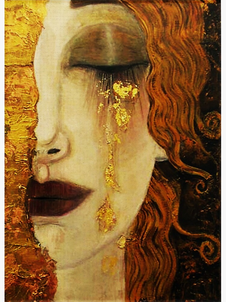 Golden Tears...Jugendstil art by Klimt by edsimoneit