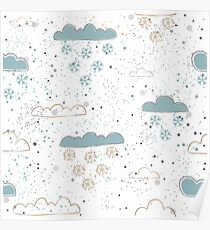 Winter Clouds Poster