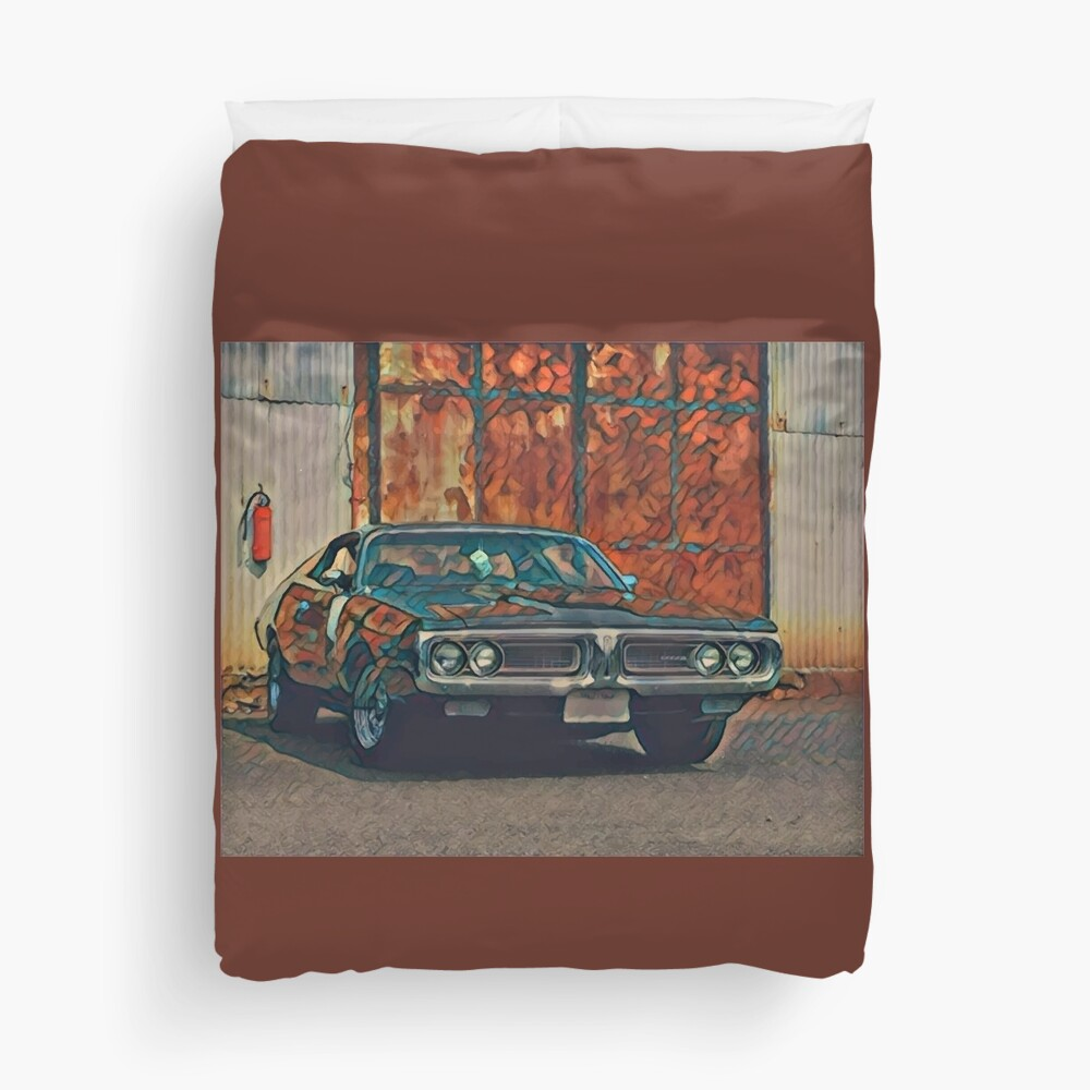 1971 Dodge Charger 383 Magnum Duvet Cover