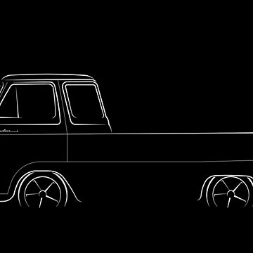 Ford Econoline Pickup - profile stencil, white by mal-photography