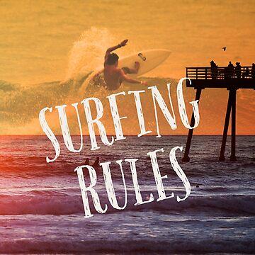 Retro Surf Beach Design by loumed
