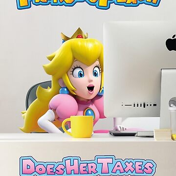 Princess Peach does her taxes by JimmysBook