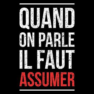"""booba vs kaaris Bagarre Shirt Booba: """" Quand On Parle Il Faut Assumer """" by drakouv"""