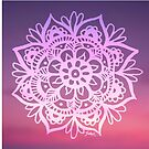 Sunset Sky Mandala by julieerindesign