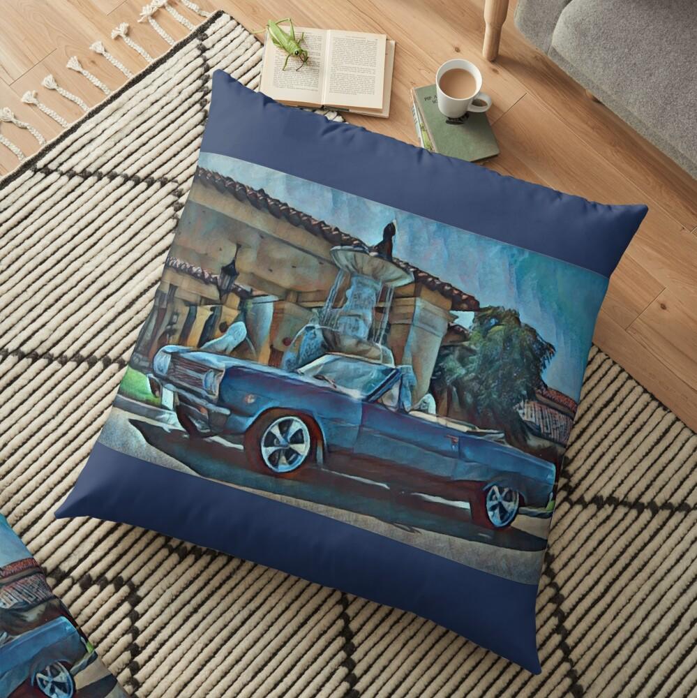 Classic Car Chevrolet Chevelle Convertible Floor Pillow