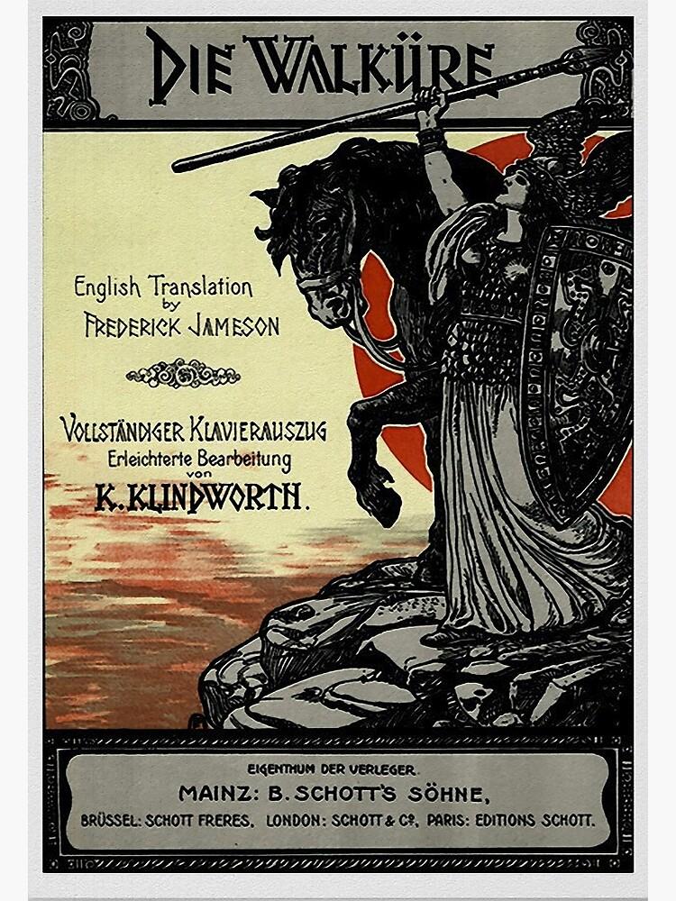 Vintage Poster, Wagner's opera Die Walküre, 1899 by edsimoneit