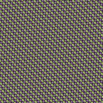 Tessellating Squid - Lime and Purple by Fletcher-Fox
