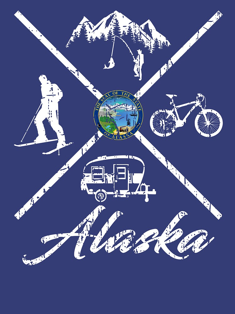 EXPLORE ALASKA - DISTRESSED DESIGN WITH ALASKA ADVENTURES by NotYourDesign