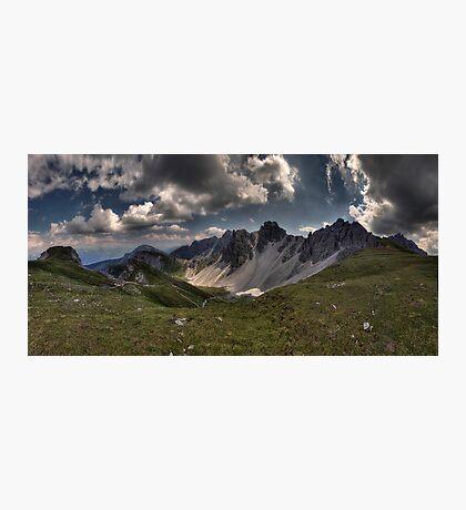 Mountainous Outlook Photographic Print
