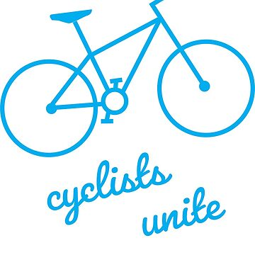 Cyclists Unite in Blue by ezzitheexplorer