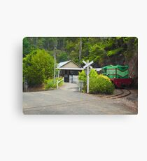 Mountain Train Canvas Print