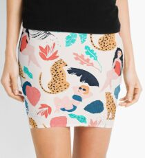 Tropical girls and Cheetah Mini Skirt