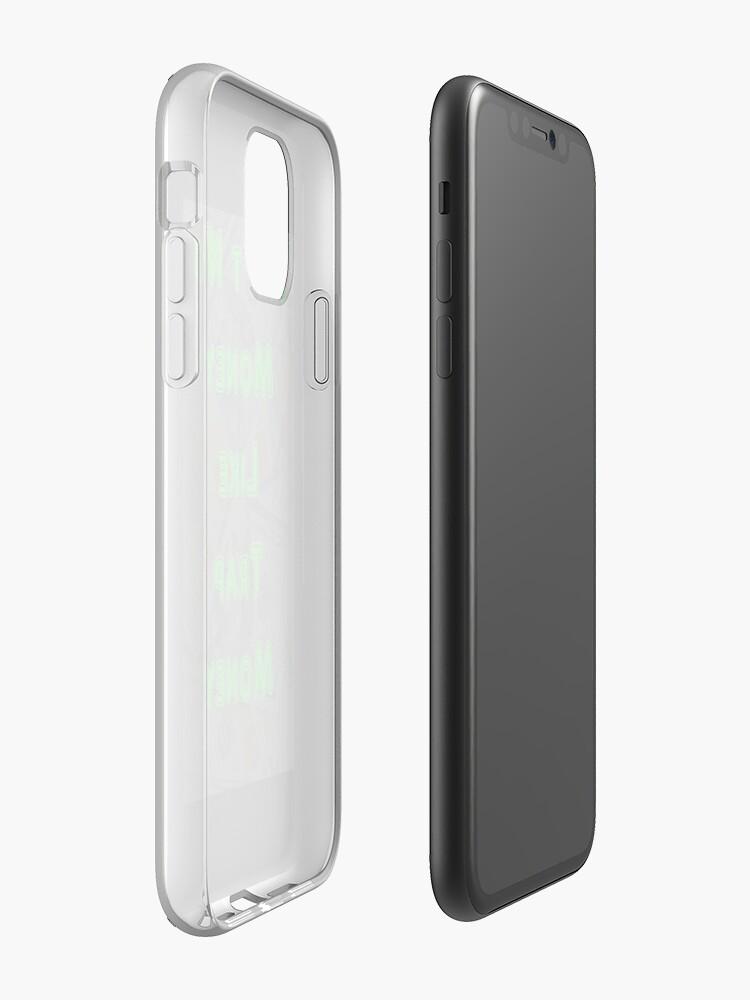 coque en bois iphone se - Coque iPhone «L'argent n'est pas comme l'argent de trappe 100 le billet d'un dollar», par Rufi