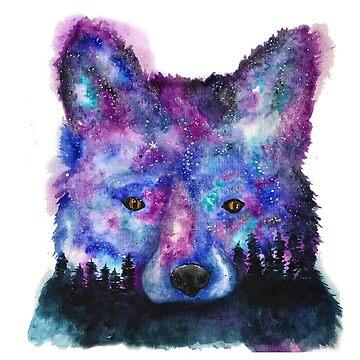 Starry Night Sky Fox by jstunkard