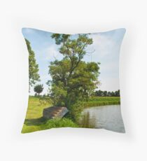Waiting the fisherman Throw Pillow