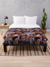 The Office Set Throw Blanket