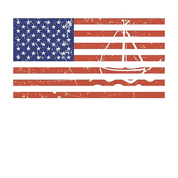 American Flag Sailboat by Mill8ion