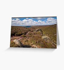 Moors above Glossop Greeting Card