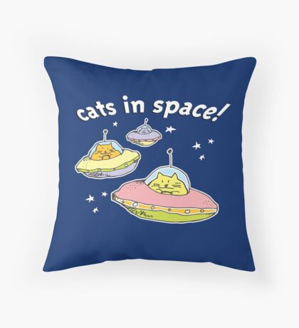 Space cats, Cats in Space Throw Pillow