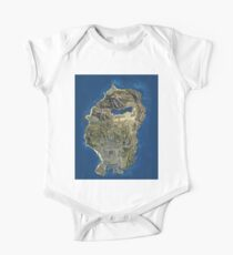 Grand Theft Auto V Los Santos Map One Piece - Short Sleeve