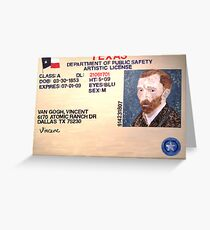 Artistic License Greeting Card