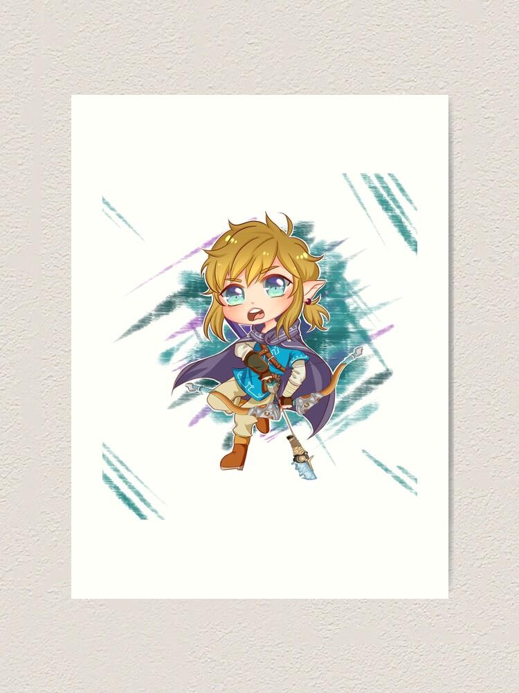 Chibi Link Botw Art Print
