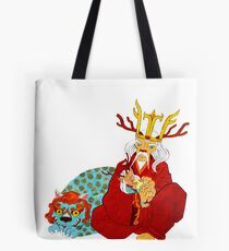 Lion Emperor (black color t-shirt) Tote Bag
